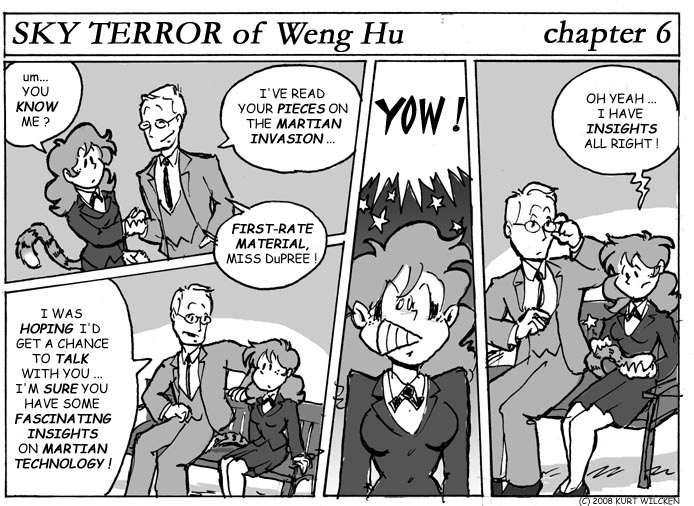 SKY TERROR of Weng Hu:  Chapter 6 — Who's Interviewing Whom ?