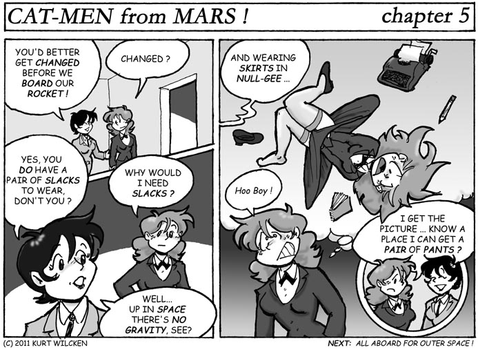 CAT-MEN from MARS:  Chapter 5 — Helpful Advice