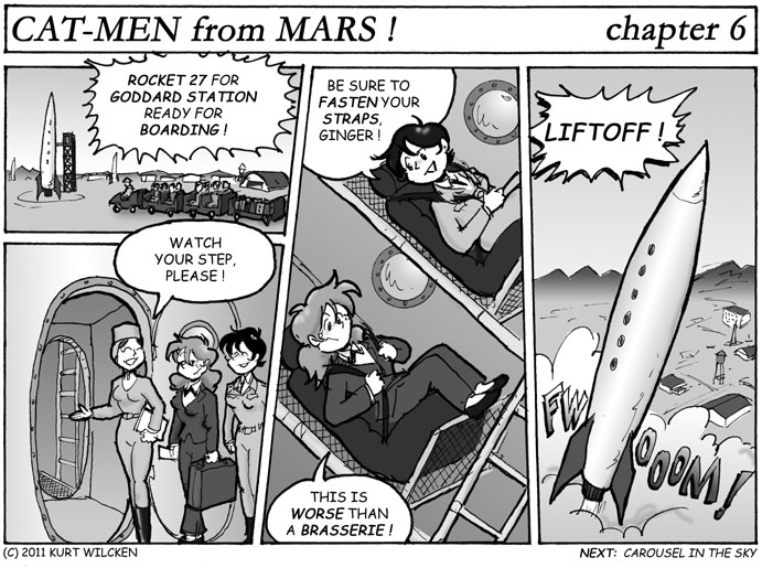 CAT-MEN from MARS:  Chapter 6 — All Aboard for Outer Space !