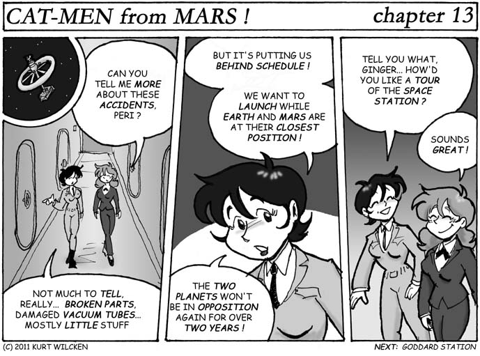 CAT-MEN from MARS:  Chapter 13 — Tour Guide
