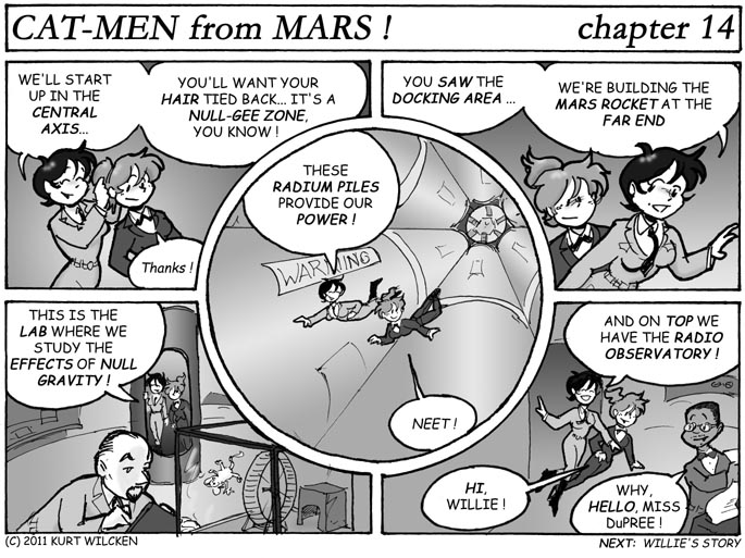 CAT-MEN from MARS:  Chapter 14 — Goddard Station
