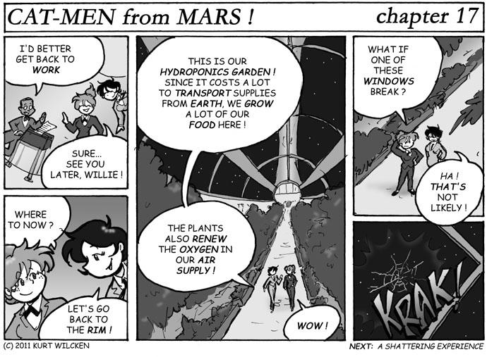 CAT-MEN from MARS:  Chapter 17 — Garden Party