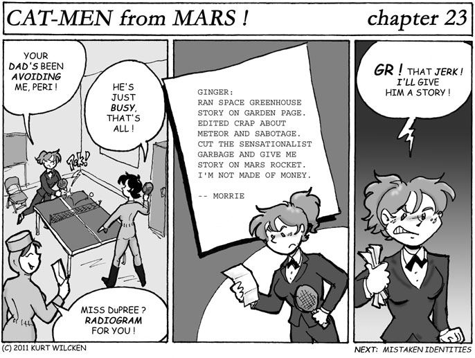 CAT-MEN from MARS:  Chapter 23 — Stinging Telegram