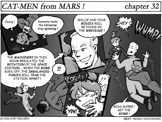 CAT-MEN from MARS:  Chapter 32 — Fatal Distraction