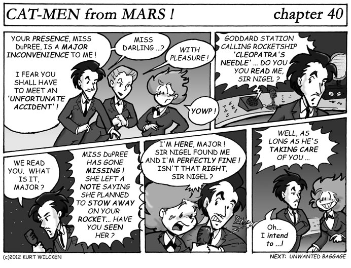 CAT-MEN from MARS:  Chapter 40 — Radio Reprieve