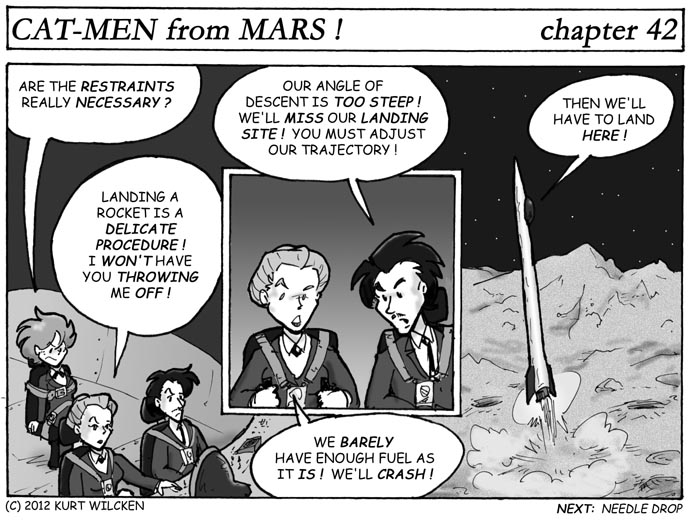 CAT-MEN from MARS:  Chapter 42 — Lunar Landing