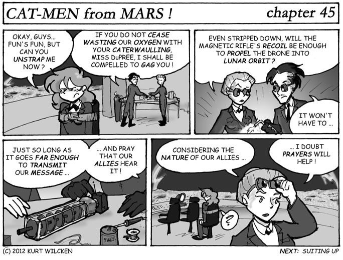 CAT-MEN from MARS:  Chapter 45 — Message In a Bottle Rocket