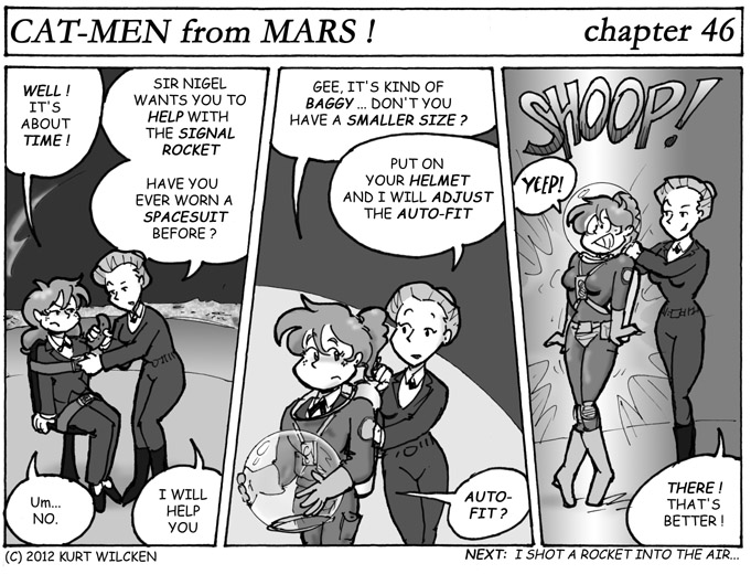 CAT-MEN from MARS:  Chapter 46 — Suiting Up