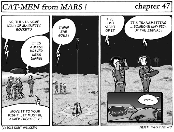 CAT-MEN from MARS:  Chapter 47 — I Shot a Rocket Into the Air …