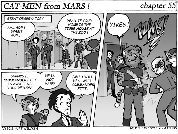 CAT-MEN from MARS:  Chapter 55 — Shocking Reception