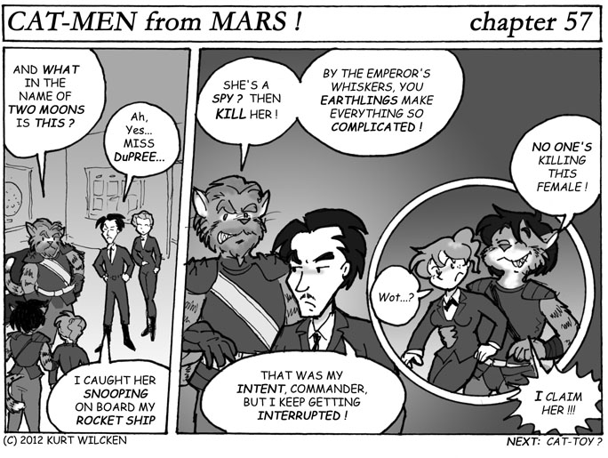 CAT-MEN from MARS:  Chapter 57 — Another Interruption