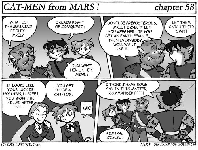 CAT-MEN from MARS:  Chapter 58 — Cat-Toy