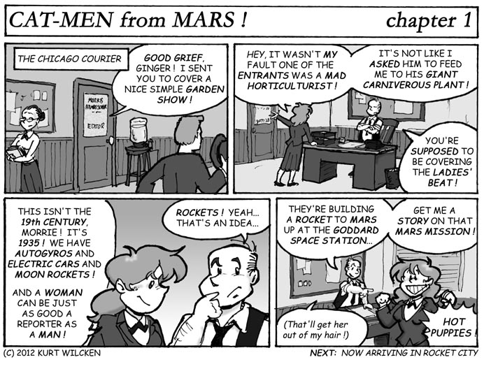 CAT-MEN from MARS:  Chapter 1 — Ginger DuPree, Girl Reporter