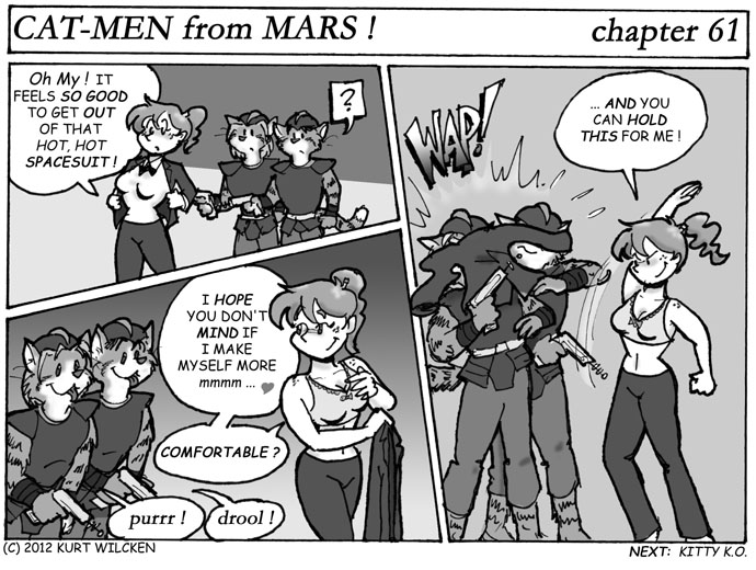 CAT-MEN from MARS:  Chapter 61 — Is It Hot In Here…?