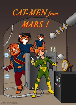 CAT-MEN from MARS:  Cover