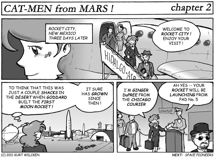 CAT-MEN from MARS:  Chapter 2 — Now Arriving in Rocket City