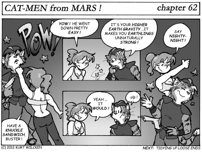 CAT-MEN from MARS:  Chapter 62 — Kitty K.O.