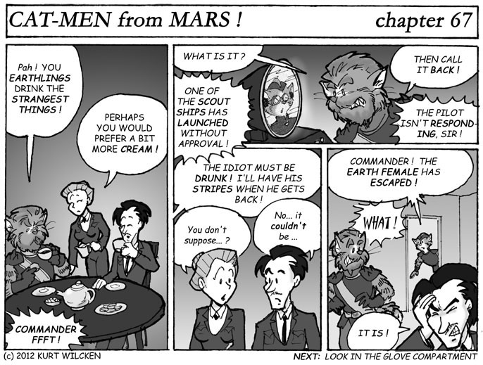 CAT-MEN from MARS:  Chapter 67 — Tea With the Commander