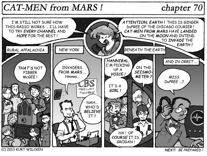 CAT-MEN from MARS:  Chapter 70 — Message to Earth