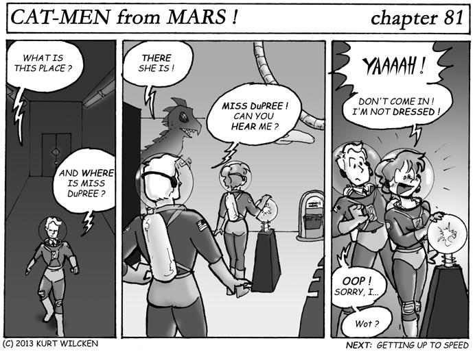 CAT-MEN from MARS:  Chapter 81 — Ever Hear of Knocking ?