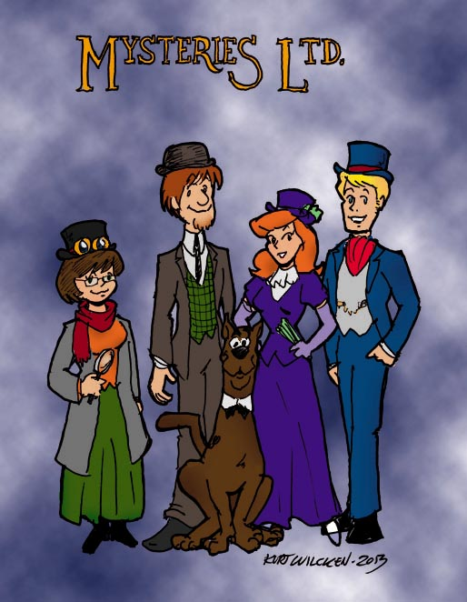 steampunk scooby color