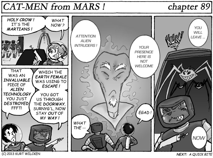 CAT-MEN from MARS:  Chapter 89 — Unwanted Intruders