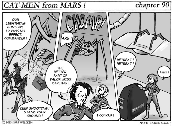 CAT-MEN from MARS:  Chapter 90 — A Quick Bite