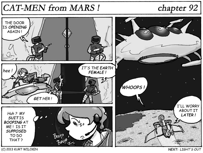 CAT-MEN from MARS:  Chapter 92 — Not Safe Yet