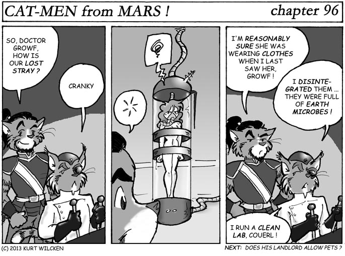 CAT-MEN from MARS:  Chapter 96 — Checking In