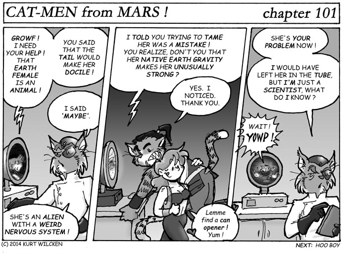 CAT-MEN from MARS:  Chapter 101 –Docile, He Said