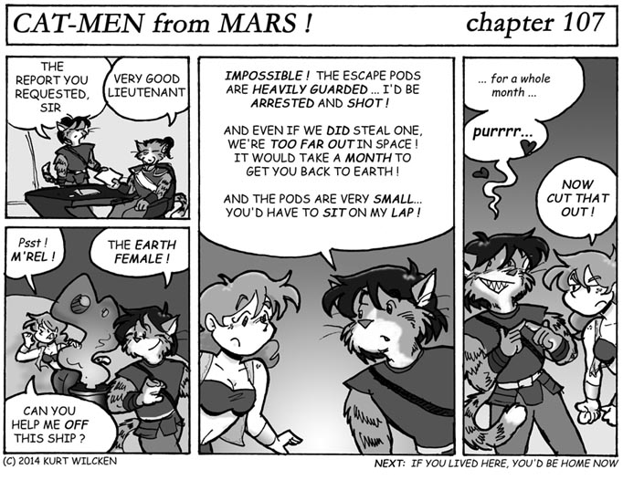 CAT-MEN from MARS:  Chapter 107 — But On the Plus Side…