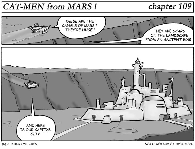 CAT-MEN from MARS:  Chapter 109 — Martian Metropolis