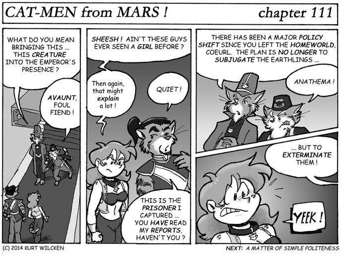 CAT-MEN from MARS:  Chapter 111 — Who Are You Calling Abomination ?