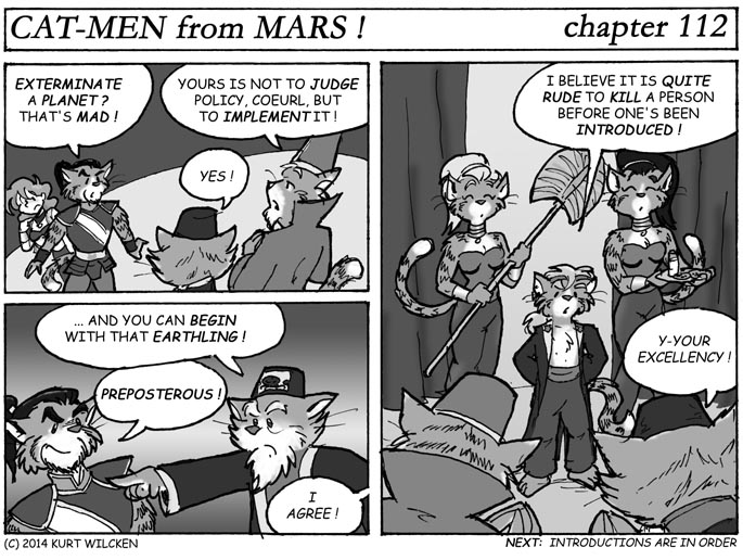 CAT-MEN from MARS:  Chapter 112 — A Simple Matter of Politeness