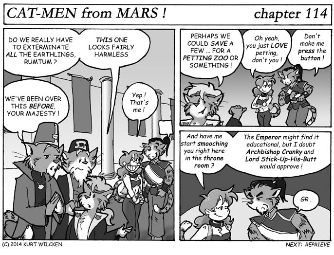 CAT-MEN from MARS:  Chapter 114 — Endangered Species