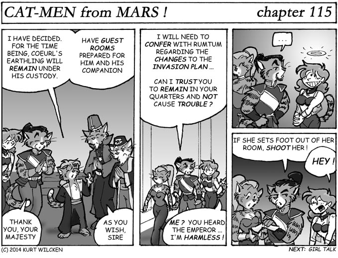 CAT-MEN from MARS:  Chapter 115 –Reprieve