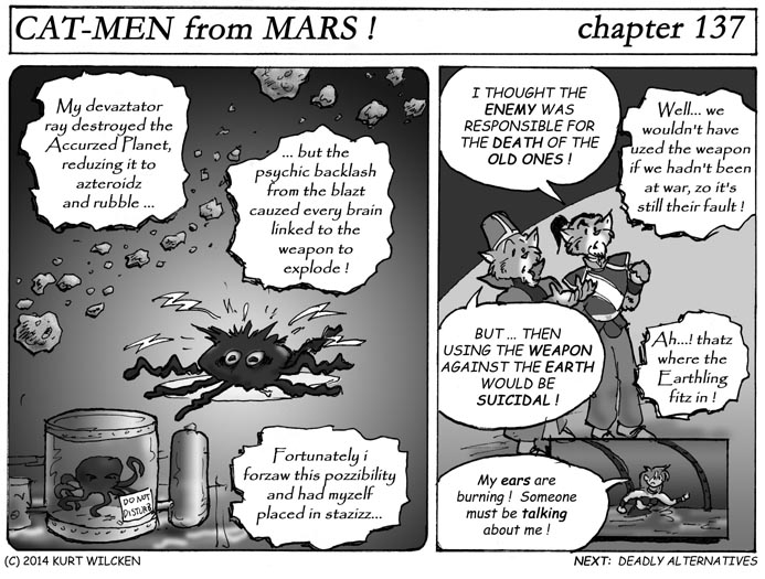 CAT-MEN from MARS:  Chapter 137 — Fatal Flaw