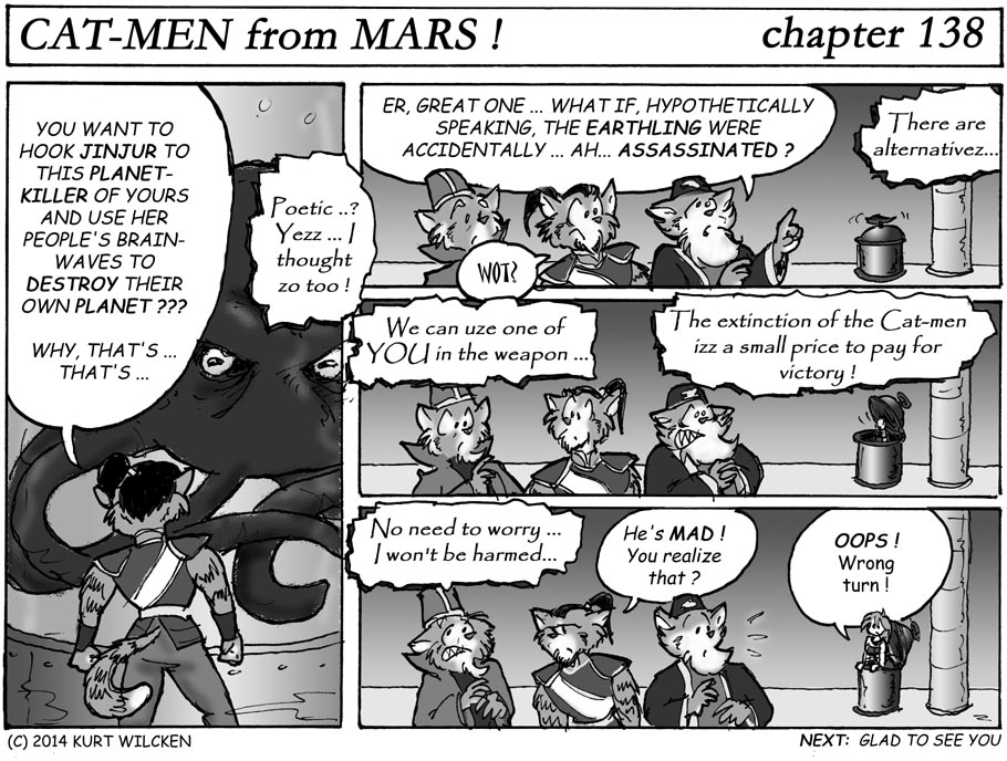 CAT-MEN from MARS:  Chapter 138 — Deadly Alternatives