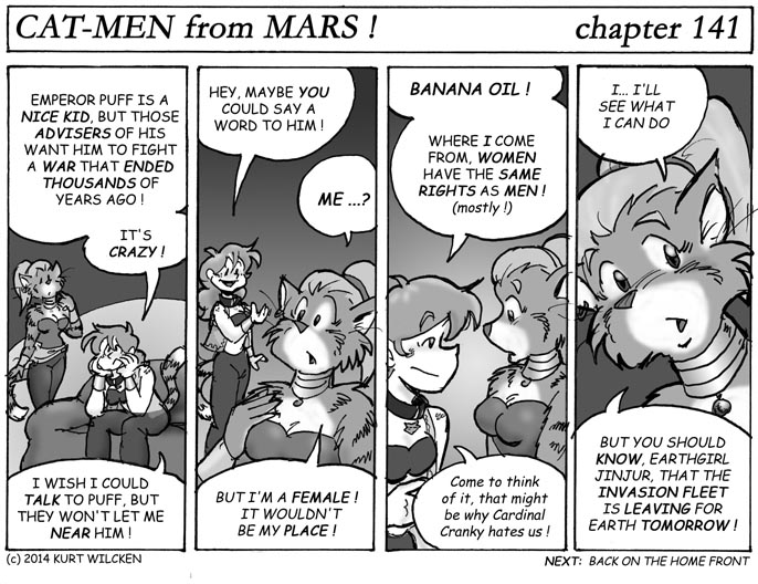 CAT-MEN from MARS:  Chapter 141 — A Little Favor