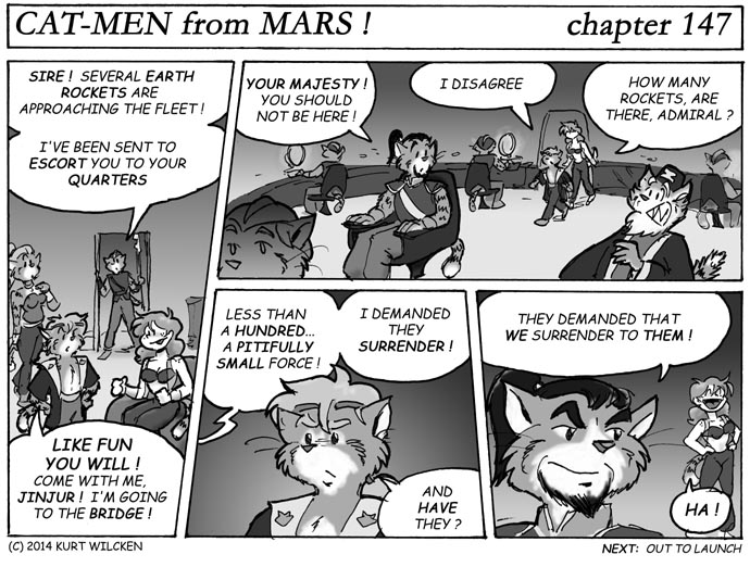 CAT-MEN from MARS:  Chapter 147 — Battle Stations