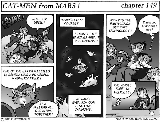 CAT-MEN from MARS:  Chapter 149 — Fateful Attraction