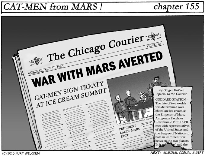 CAT-MEN from MARS:  Chapter 155 — Stop the Presses !