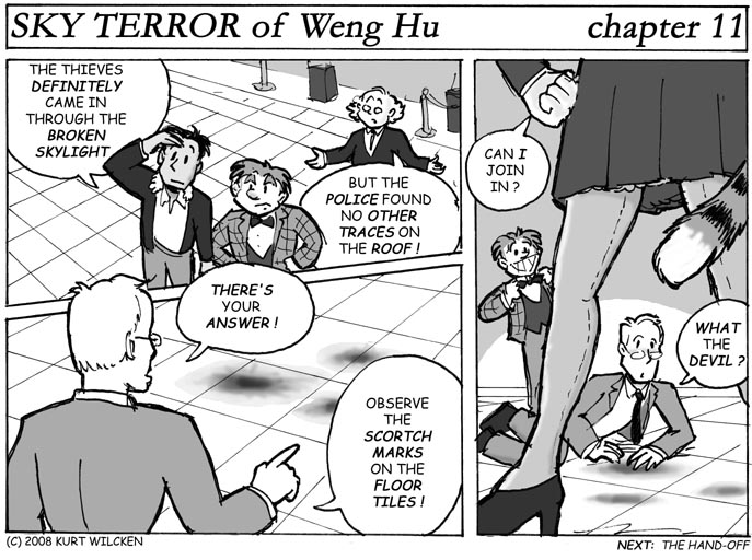 SKY TERROR of Weng Hu:  Chapter 11 — Examining the Evidence