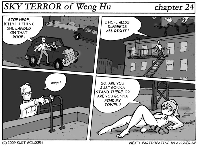 SKY TERROR of Weng Hu:  Chapter 24 — Any Landing You Can Walk Away From …
