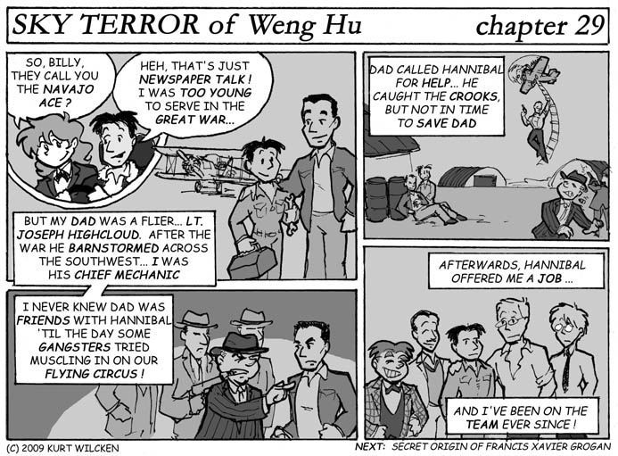 SKY TERROR of Weng Hu:  Chapter 29 — Billy Highcloud, Navajo Ace