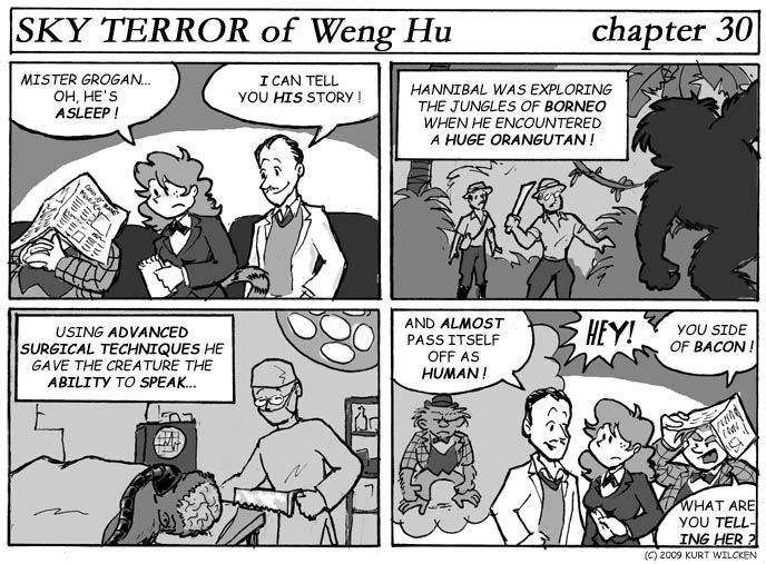 SKY TERROR of Weng Hu:  Chapter 30 — Secret Origin of Francis Xavier Grogan