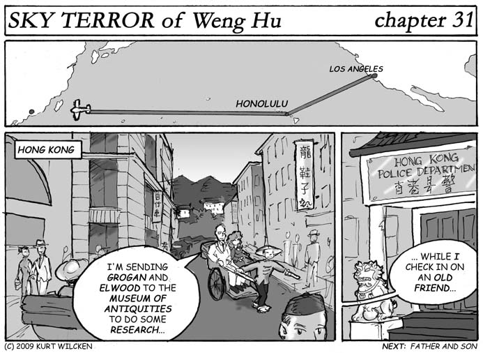 SKY TERROR of Weng Hu:  Chapter 31 — The Streets of Hong Kong