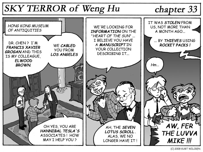 SKY TERROR of Weng Hu:  Chapter 33 — Seven Lotus Scroll