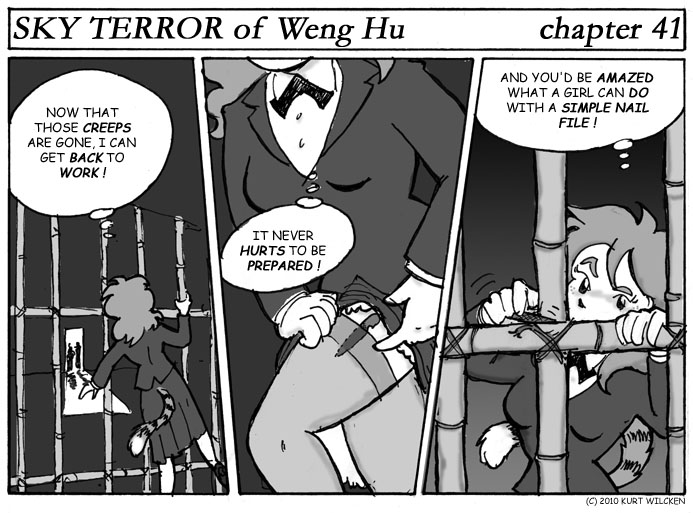 SKY TERROR of Weng Hu:  Chapter 41 — Be Prepared