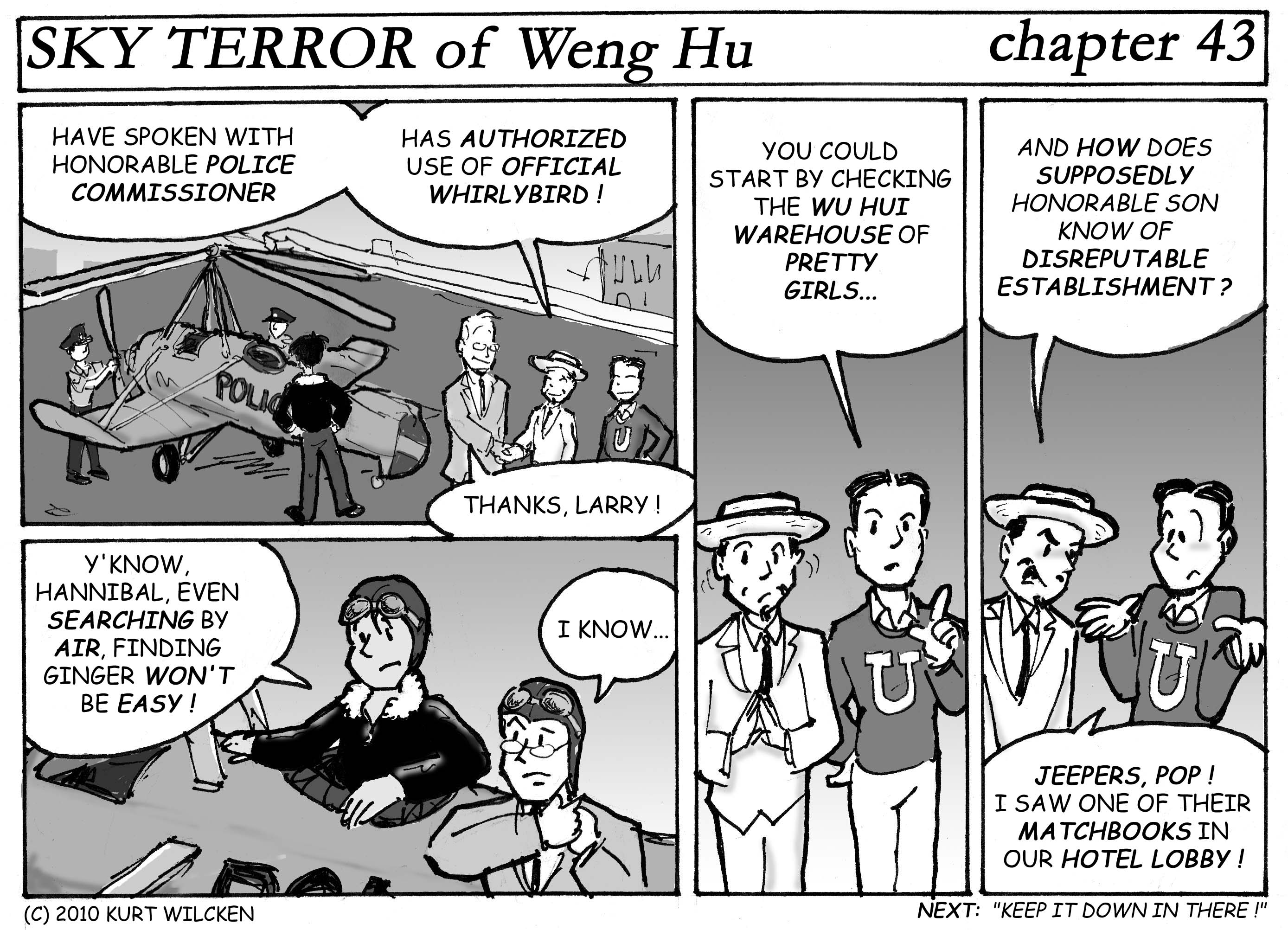 SKY TERROR of Weng Hu:  Chapter 43 — A Good Place to Start